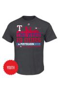 Texas Rangers Youth Charcoal Locker Room T-Shirt