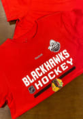 Chicago Blackhawks Boys Red Locker Room T-Shirt