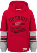 Detroit Red Wings Boys Heroic Hooded Sweatshirt - Red