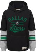 Dallas Stars Boys Heroic Hooded Sweatshirt - Black