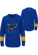 St Louis Blues Youth Navy Blue Shattered Ice Crew Sweatshirt