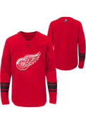 Detroit Red Wings Youth Red Shattered Ice Crew Sweatshirt