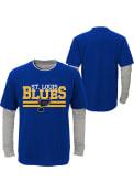 St Louis Blues Youth Black Defensive Pair T-Shirt