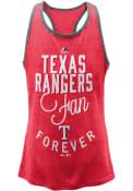 Texas Rangers Girls Fan Forever Tank Top - Red