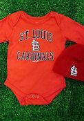 St Louis Cardinals Baby Red #1 Design One Piece