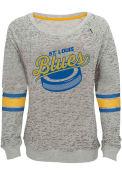St Louis Blues Girls Lucky Puck Crew Sweatshirt - Grey