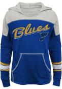 St Louis Blues Girls Preseason- Slouchy Hooded Sweatshirt - Navy Blue