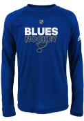 St Louis Blues Youth Blue Authentic Ice 2017 T-Shirt