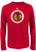 Chicago Blackhawks Youth Red Practice Graphic T-Shirt