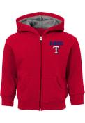 Texas Rangers Toddler Inside The Park Full Zip Sweatshirt - Red