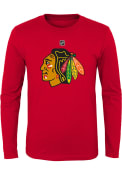 Chicago Blackhawks Youth Red Primary Logo T-Shirt