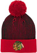 Chicago Blackhawks Youth Legacy Knit Hat - Red