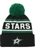 Dallas Stars Green Wordmark Youth Knit Hat