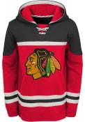 Chicago Blackhawks Youth Asset Hooded Sweatshirt - Red