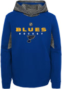 St Louis Blues Youth Hyper Physical Hooded Sweatshirt - Blue