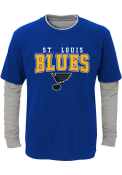St Louis Blues Youth Playmaker T-Shirt - Blue