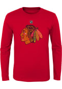 Chicago Blackhawks Youth Distressed Logo T-Shirt - Red