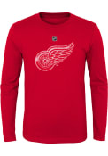 Detroit Red Wings Youth Distressed Logo T-Shirt - Red
