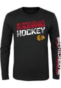 Chicago Blackhawks Youth Break Lines T-Shirt - Black