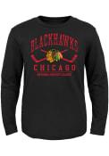 Chicago Blackhawks Youth Fundamentals T-Shirt - Black