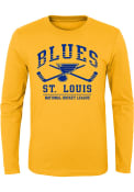 St Louis Blues Youth Fundamentals T-Shirt - Gold