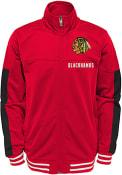 Chicago Blackhawks Youth Goal Line Track Jacket - Red
