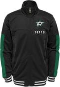 Dallas Stars Youth Goal Line Track Jacket - Black