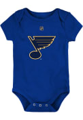 St Louis Blues Baby Primary Logo One Piece - Blue