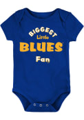 St Louis Blues Baby Biggest Little Fan One Piece - Blue