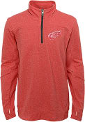 Detroit Red Wings Boys Polymer 1/4 Zip Pullover - Red