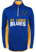 St Louis Blues Boys Netminder 1/4 Zip Pullover - Blue
