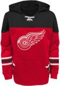 Detroit Red Wings Boys Freezer Hooded Sweatshirt - Red