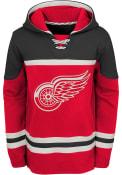Detroit Red Wings Boys Asset Hooded Sweatshirt - Red