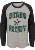 Dallas Stars Boys Assist Fashion T-Shirt - Grey