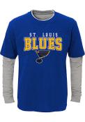 St Louis Blues Boys Playmaker Fashion T-Shirt - Blue