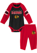 Chicago Blackhawks Infant Pepper Pot Top and Bottom - Red
