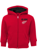 Detroit Red Wings Toddler Enforcer Full Zip Sweatshirt - Red