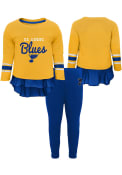 St Louis Blues Toddler Girls Show Off Top and Bottom - Blue