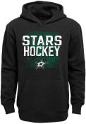 Dallas Stars Youth Attitude Hooded Sweatshirt - Black