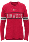 Detroit Red Wings Girls Pacesetter Long Sleeve T-shirt - Red