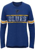 St Louis Blues Girls Pacesetter Long Sleeve T-shirt - Blue