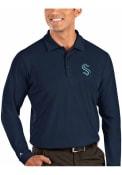 Seattle Kraken Antigua Tribute Polo Shirt - Navy Blue