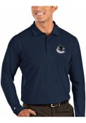 Vancouver Canucks Antigua Tribute Polo Shirt - Navy Blue
