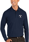 BYU Cougars Antigua Tribute Polo Shirt - Navy Blue