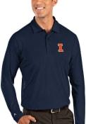 Illinois Fighting Illini Antigua Tribute Polo Shirt - Navy Blue