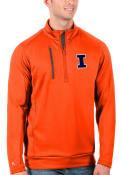 Illinois Fighting Illini Antigua Generation 1/4 Zip Pullover - Orange