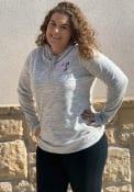 Texas Rangers Womens Cutter and Buck Tie Breaker Hooded Sweatshirt - Oatmeal