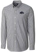 BYU Cougars Cutter and Buck Gilman Dress Shirt - Navy Blue