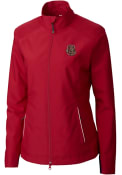 Cornell Big Red Womens Cutter and Buck Beacon Light Weight Jacket - Red