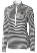 East Carolina Pirates Womens Cutter and Buck Trevor Stripe Full Zip Jacket - White